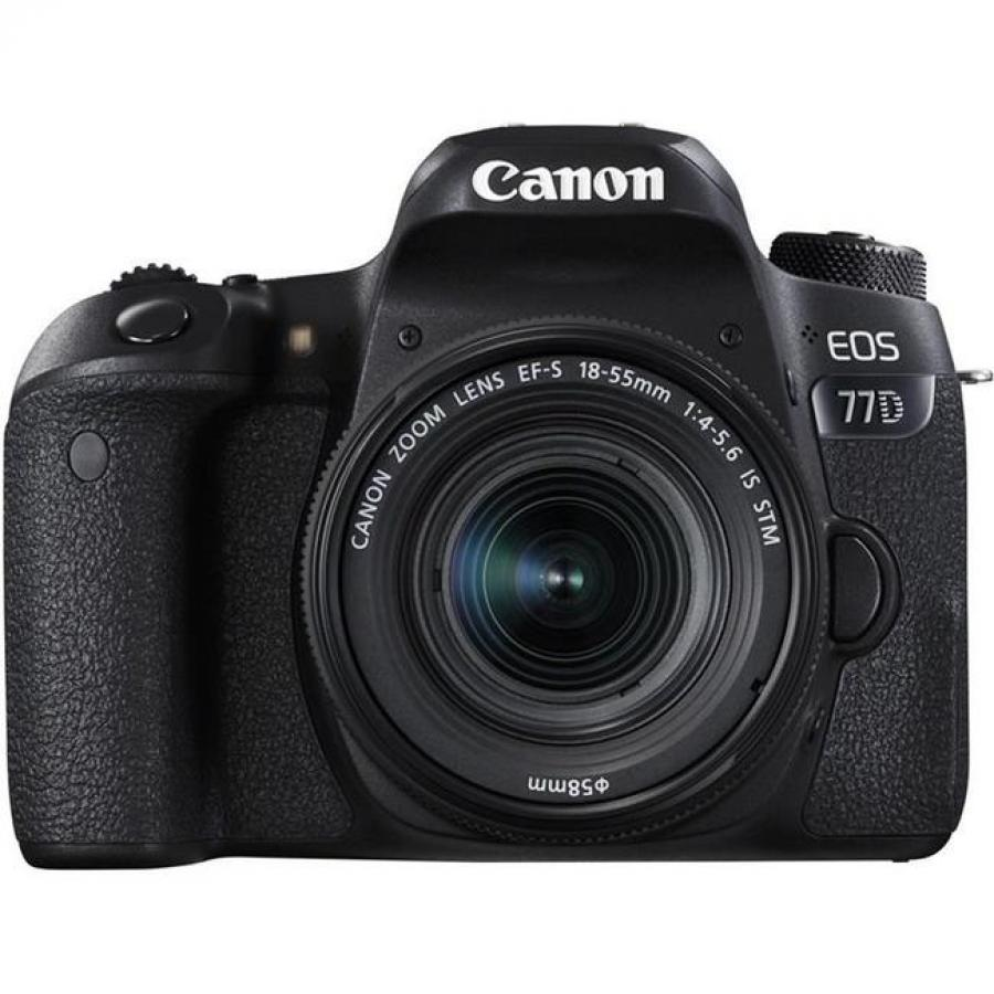 Фотоаппарат зеркальный Canon EOS 77D Kit EF-S 18-55 mm F3.5-5.6 IS STM фотоаппарат canon eos m6 kit ef m 15 45 is stm silver