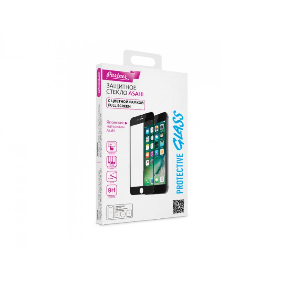 Защитное стекло Partner с рамкой (Full-Screen) для IPhone 7/8, красное glare free screen protector with cleaning cloth for iphone 3g