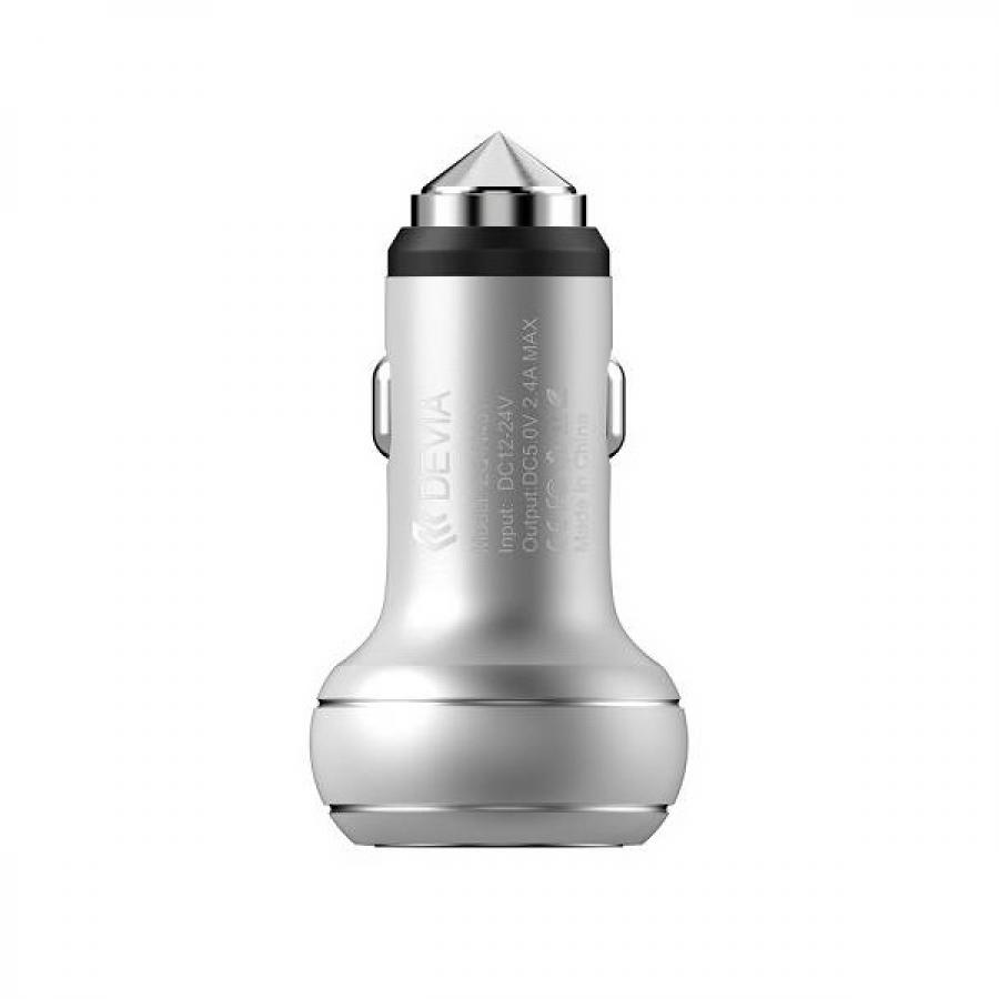 АЗУ Devia Thor Dual USB Port Car Charger Silver