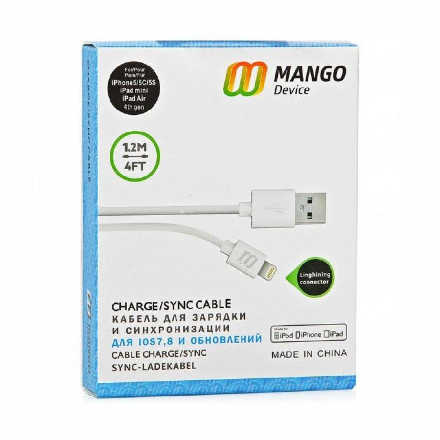 Кабель Mango Device для Apple 1.2 meter Lightning - USB Белый