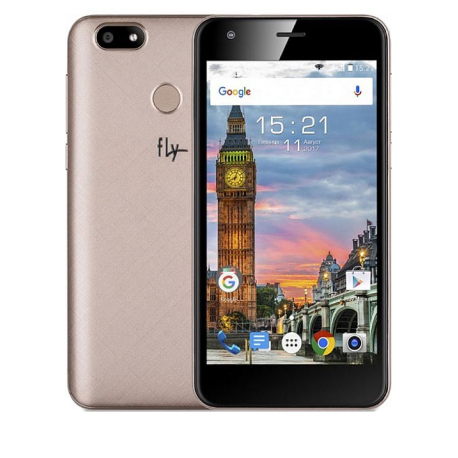 Смартфон Fly FS521 Power Plus 1 LTE Champagne Gold цена