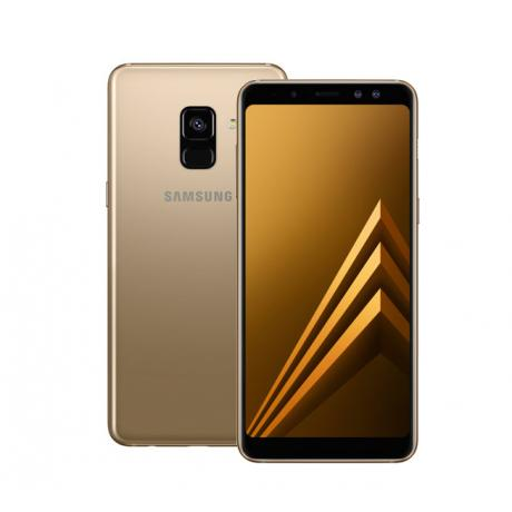 Смартфон Samsung SM-A730F Galaxy A8+ (2018) 32Gb Gold - фото 1