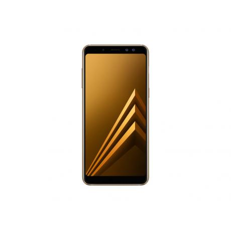 Смартфон Samsung SM-A730F Galaxy A8+ (2018) 32Gb Gold - фото 2