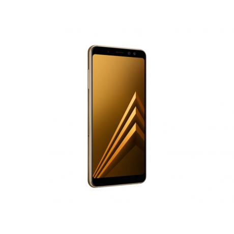 Смартфон Samsung SM-A730F Galaxy A8+ (2018) 32Gb Gold - фото 6