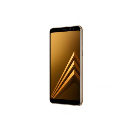 Смартфон Samsung SM-A730F Galaxy A8+ (2018) 32Gb Gold - фото 7
