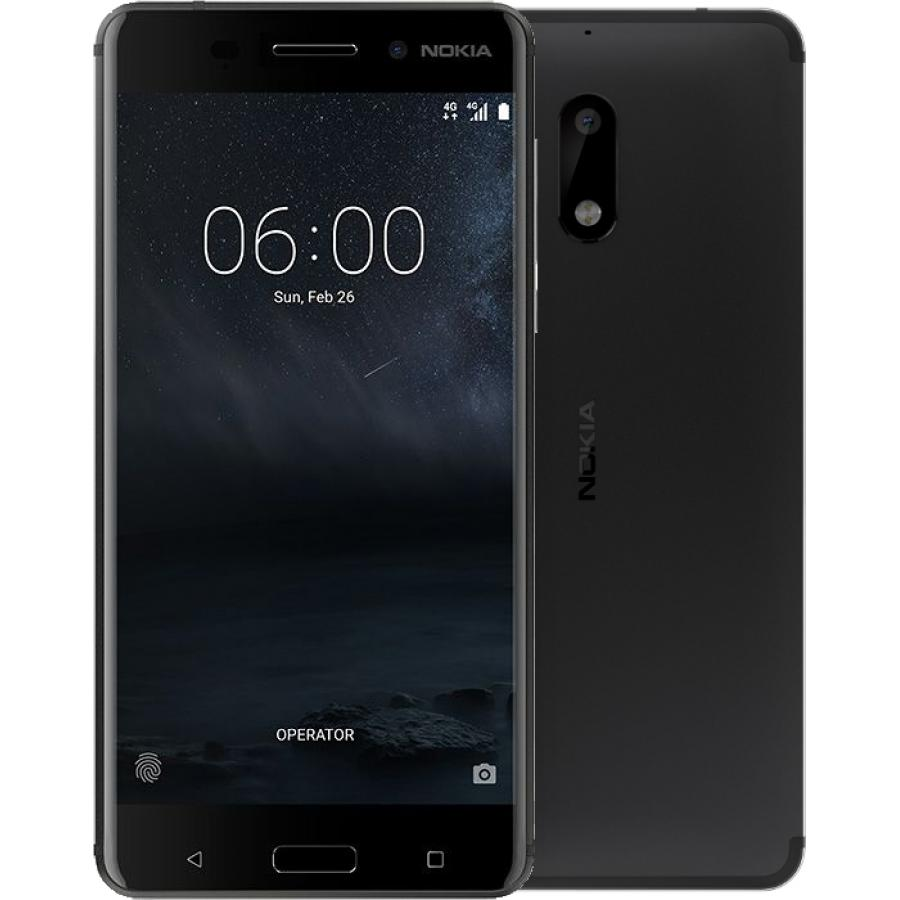 Смартфон Nokia 6 32Gb DS TA-1021 Black смартфон nokia 6 32gb blue