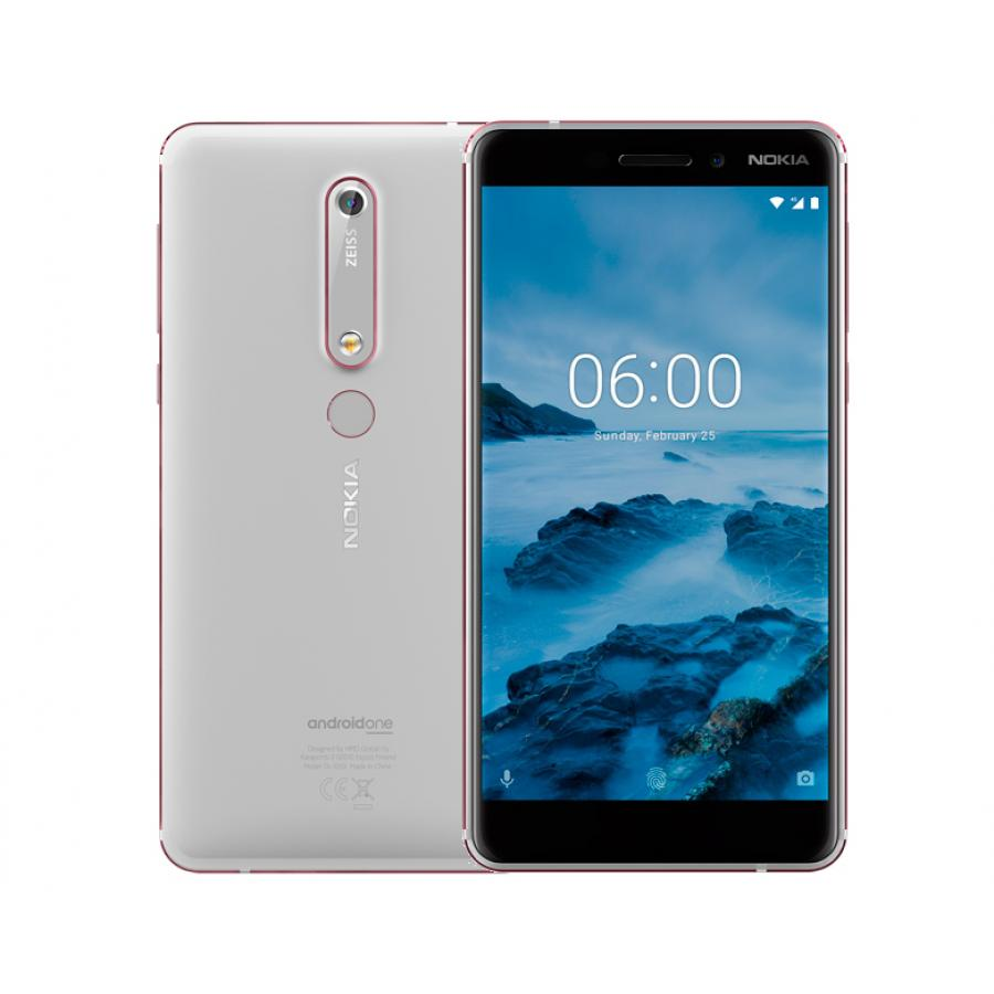 Смартфон Nokia 6.1 (2018) 32Gb White смартфон nokia 5 1 plus 32gb white