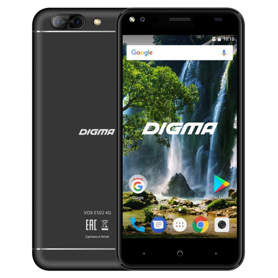 Смартфон Digma VOX E502 4G 16Gb 1Gb Black смартфон digma vox e502 4g gray