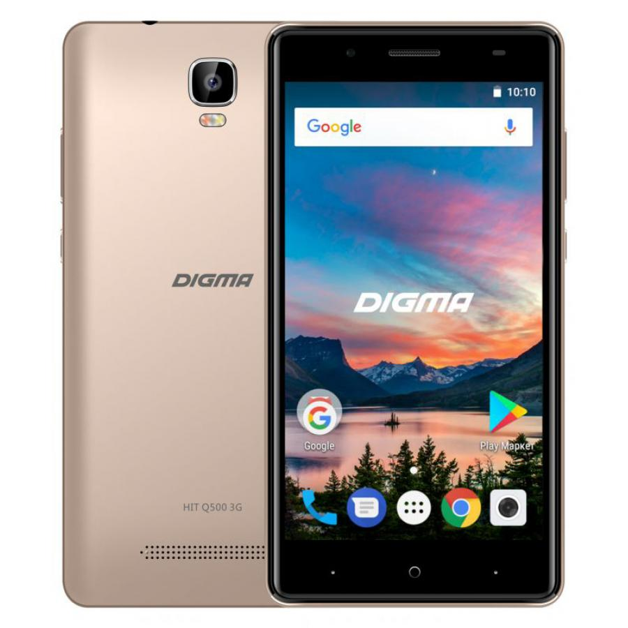 Смартфон Digma HIT Q500 3G 8Gb 1Gb Gold смартфон digma hit q500 3g 8gb 1gb black