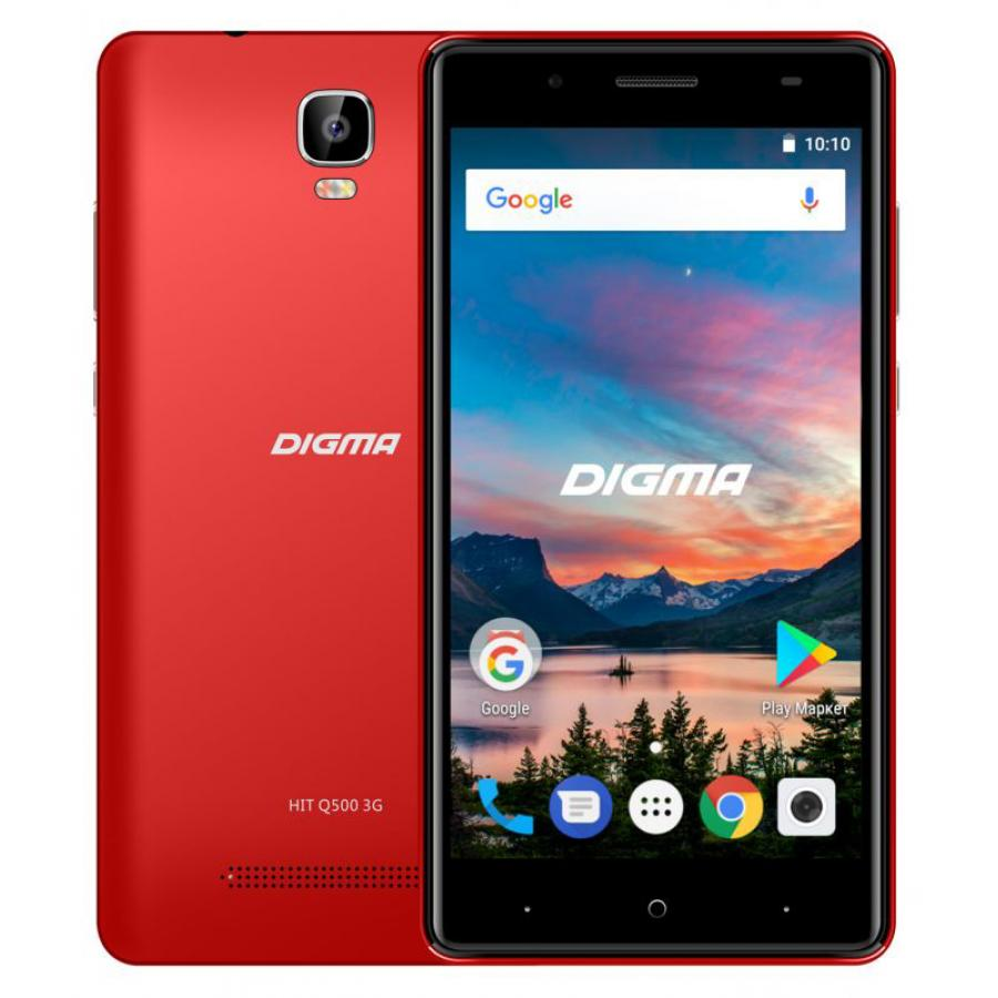 Смартфон Digma HIT Q500 3G 8Gb 1Gb Red смартфон digma vox g500 3g 8gb черный dgs g500bk 428982