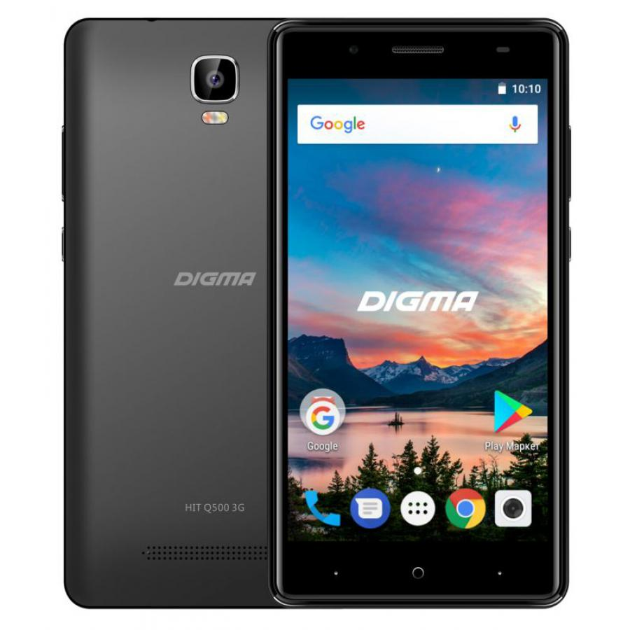 Смартфон Digma HIT Q500 3G 8Gb 1Gb Black смартфон lg k5 x220ds ds black gold android 5 1 mt6582 1300mhz 5 0 854x480 1024mb 8gb 3g edge hsdpa hspa [lgx220ds aciskg]
