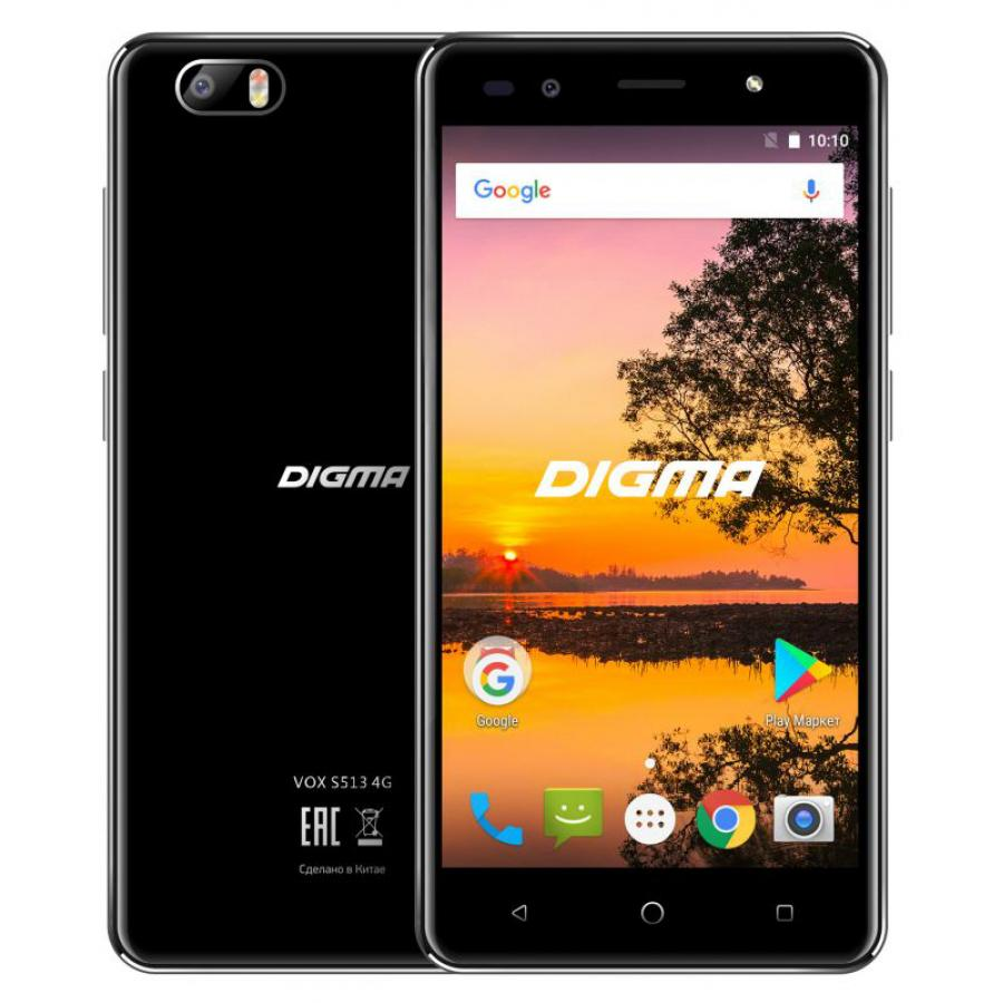 Смартфон Digma VOX S513 4G 16Gb 1Gb Black цена