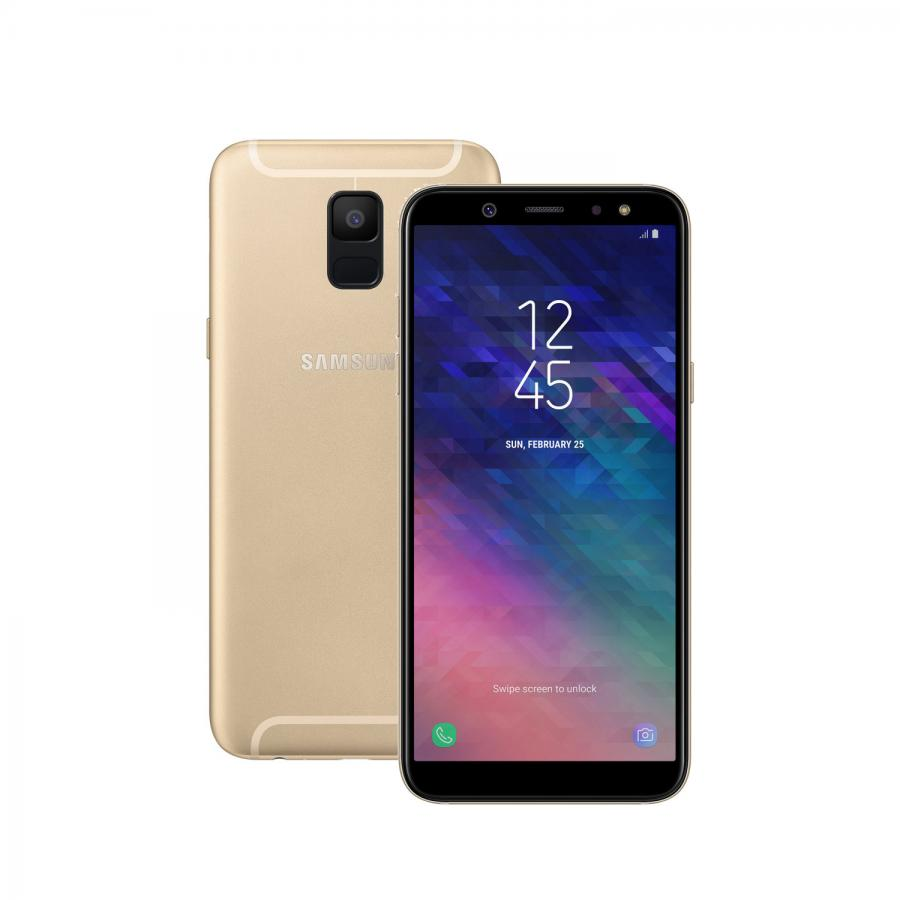 Смартфон Samsung SM-A600F Galaxy A6 (2018) 32Gb 3Gb Gold смартфон samsung sm a600f galaxy a6 2018 32gb 3gb gold