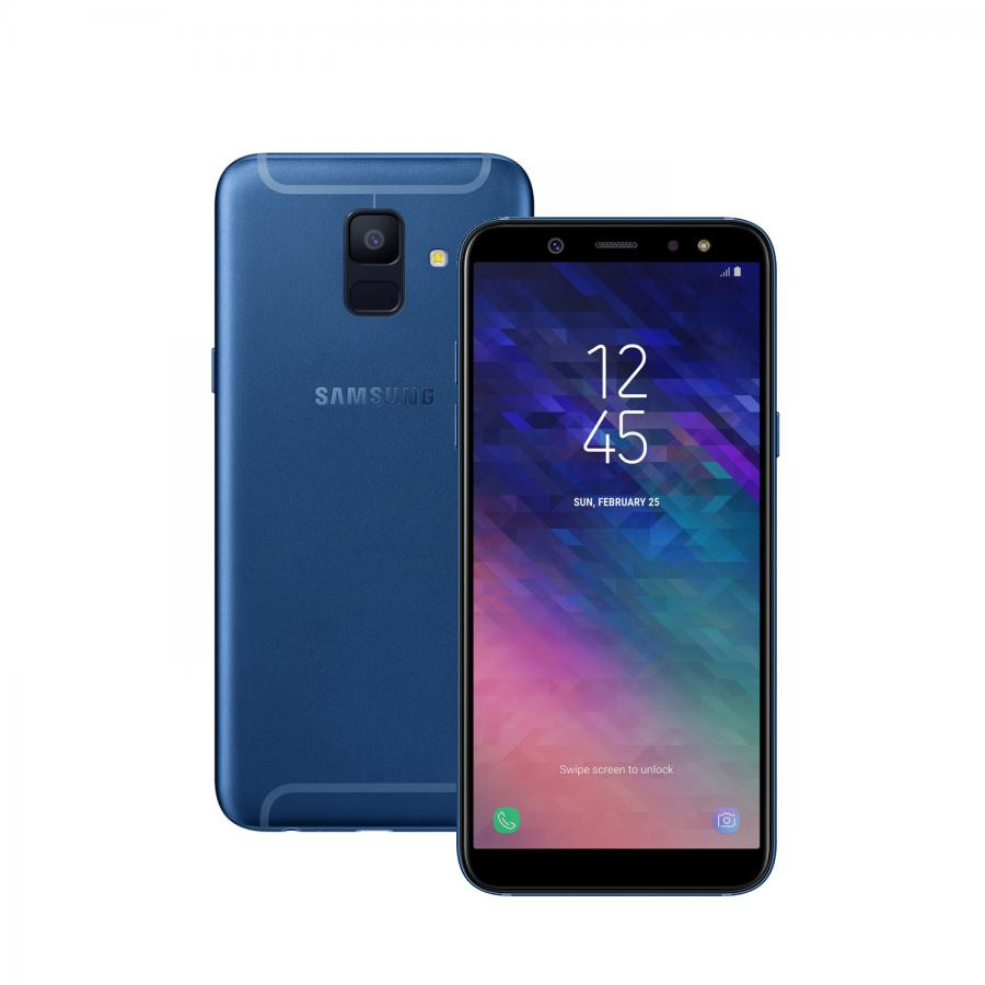 Смартфон Samsung SM-A600F Galaxy A6 (2018) 32Gb 3Gb Blue смартфон samsung sm a600f galaxy a6 2018 32gb 3gb gold