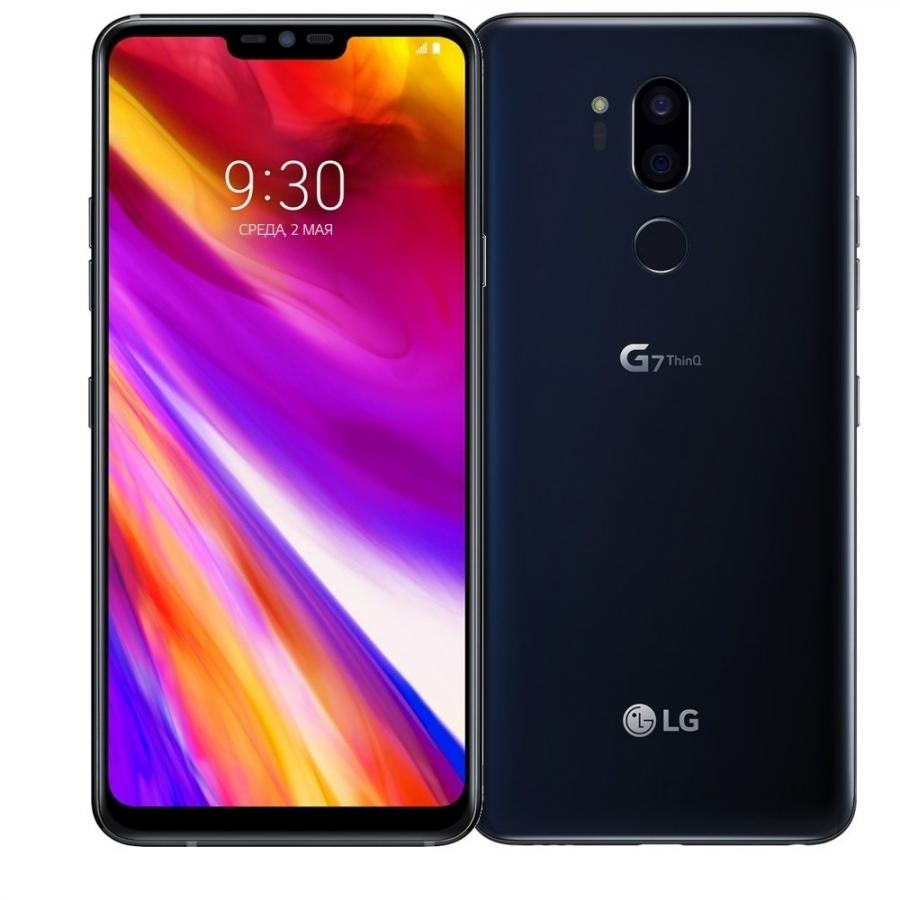 Смартфон LG G7 ThinQ 64Gb Aurora Black сотовый телефон lg g7 thinq 64gb blue