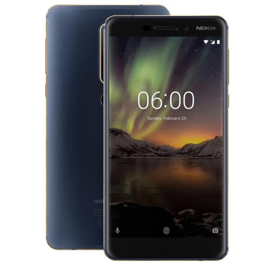 Смартфон Nokia 6.1 (2018) 32Gb Blue смартфон nokia 6 32gb blue