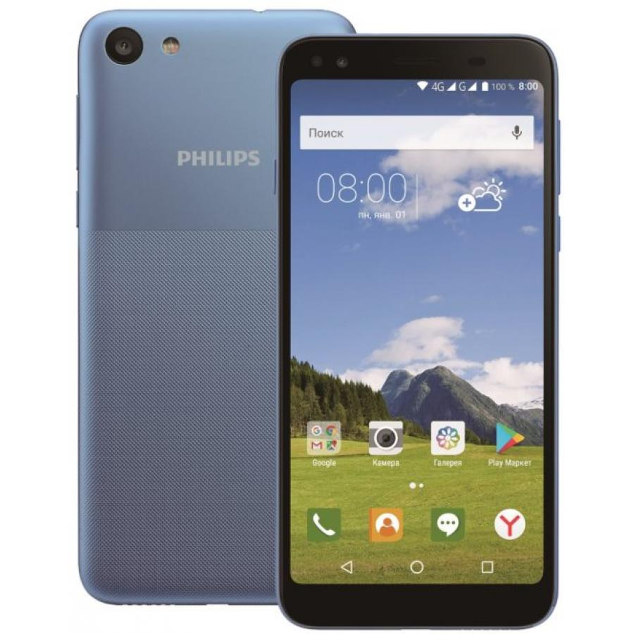 Смартфон Philips S395 16Gb 2Gb Blue все цены