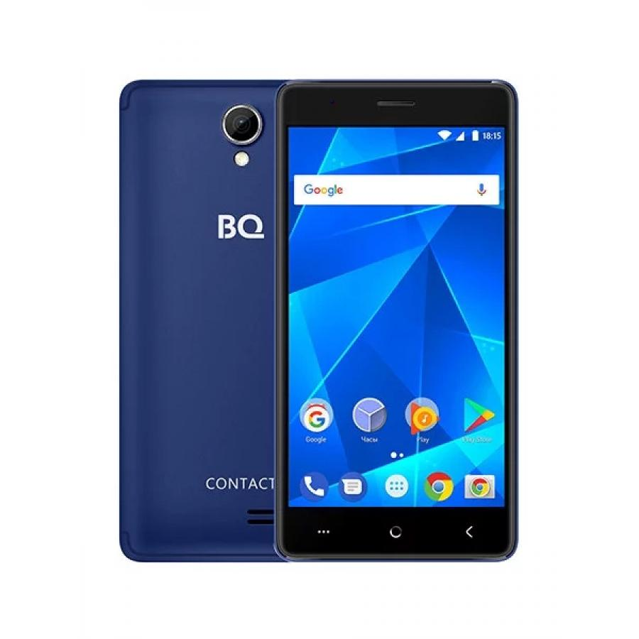 Смартфон BQ BQ-5001L Contact LTE Dark Blue смартфон bq mobile bq 5001l contact 8 gb серебристый