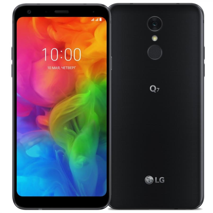 Смартфон LG Q7 Q610NM 32Gb Black смартфон lg q7 q610nm 32gb black