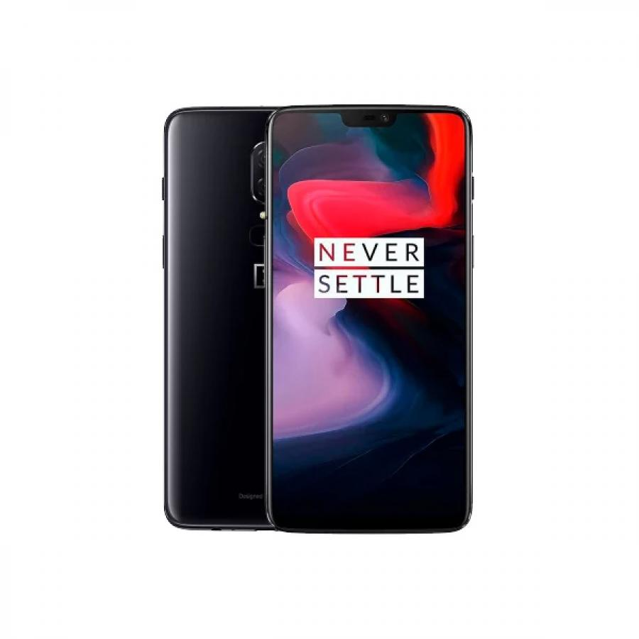 Смартфон OnePlus 6 8/128Gb A6003 Mirror Black oneplus смартфон oneplus oneplus 5t 128gb ram 8gb черный black