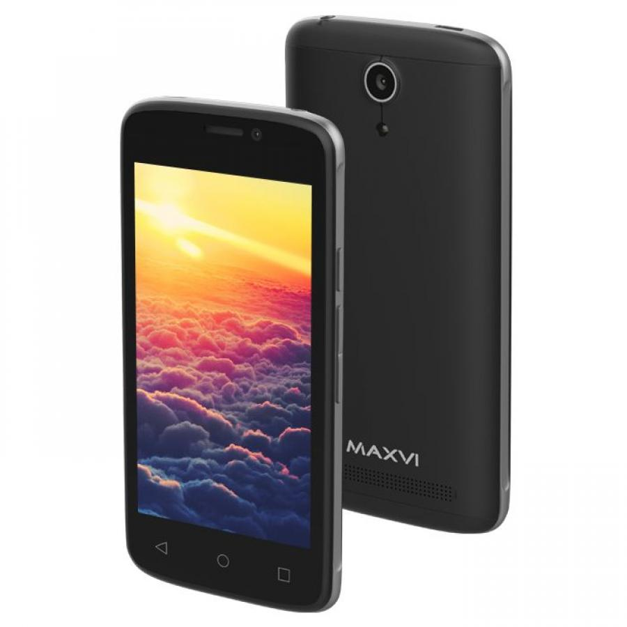 Смартфон Maxvi MS401 Sunrise Black maxvi p11 black