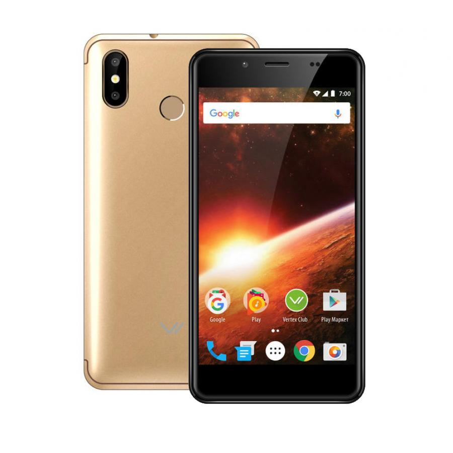 Смартфон Vertex Impress Eclipse LTE Gold цена и фото