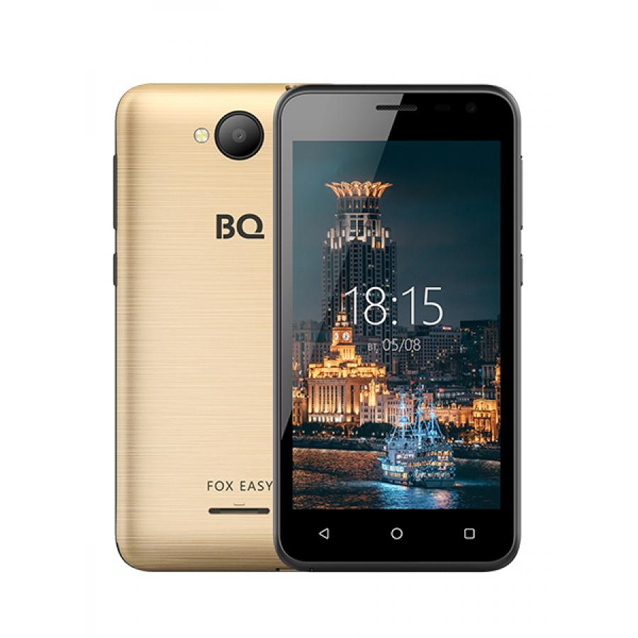 Смартфон BQ BQ-4501G Fox Easy Gold сотовый телефон bq 4501g fox easy rose gold