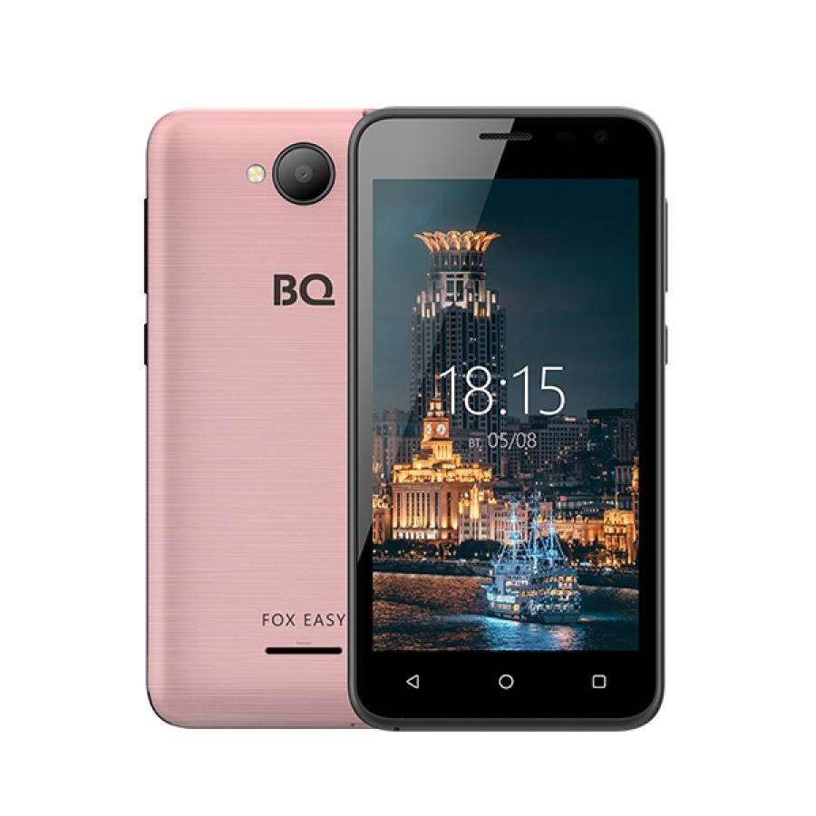 Смартфон BQ BQ-4501G Fox Easy Pink Gold сотовый телефон bq 4501g fox easy rose gold