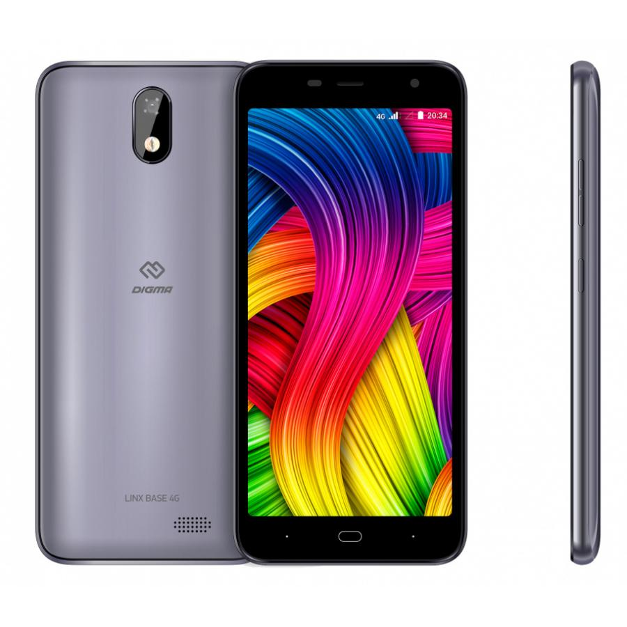 Смартфон Digma LINX BASE 4G 8Gb серый цена