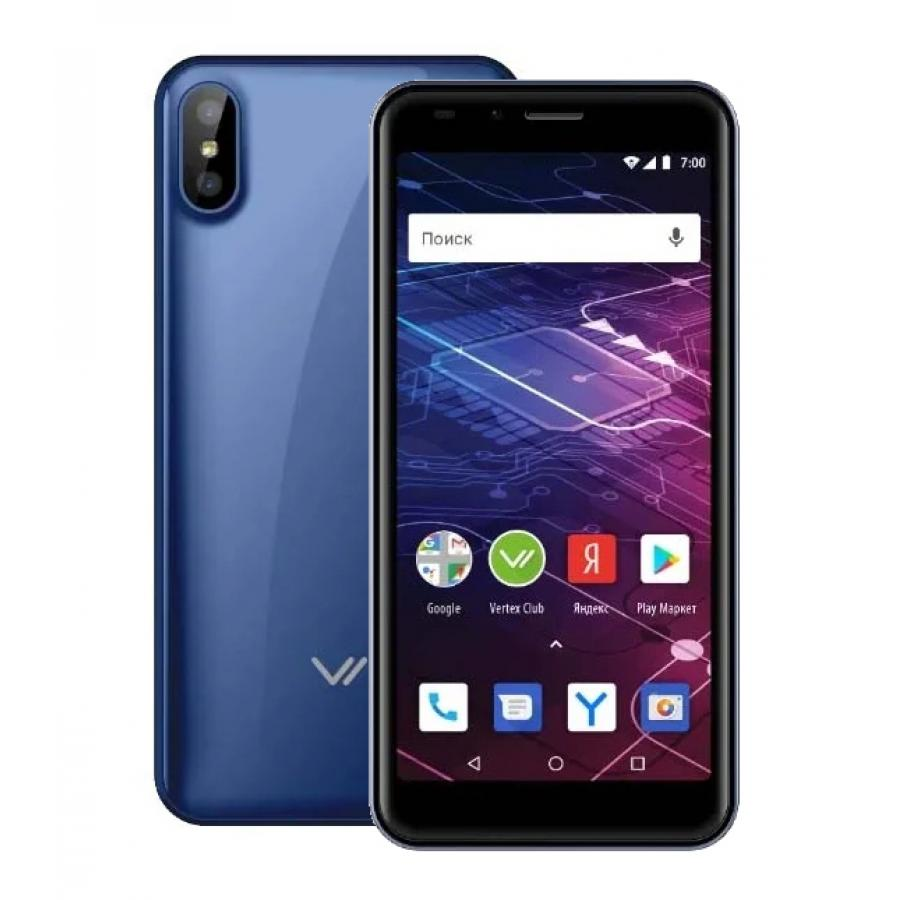 Смартфон Vertex Impress Click NFC 3G Blue смартфон vertex impress flash blue