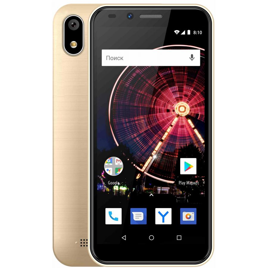 Смартфон Vertex Impress Flash Gold смартфон vertex impress in touch 4g 8 гб золотистый int4g gld