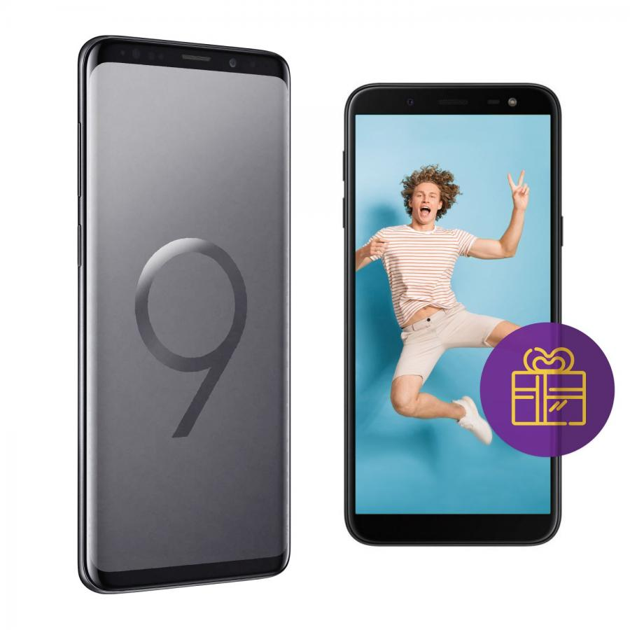 Смартфон Samsung Galaxy S9+ G965F 64Gb Титан + Промо kykeo золотистый samsung galaxy s9 plus