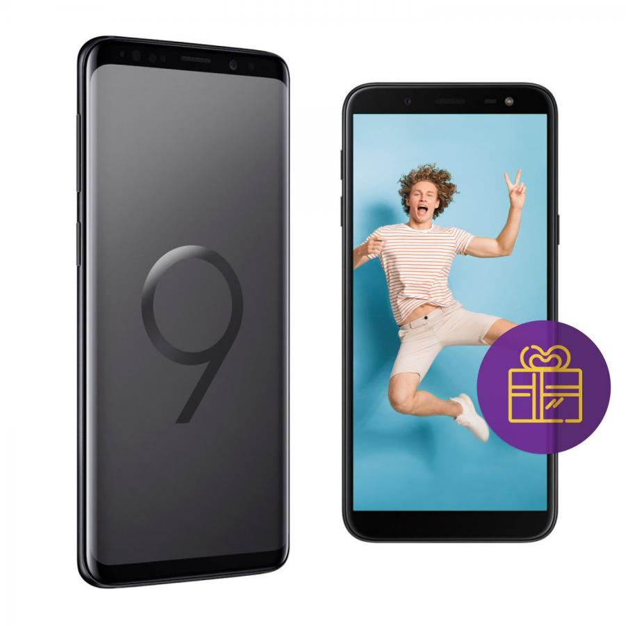 Смартфон Samsung Galaxy S9+ G965F 64Gb Черный бриллиант + Промо kykeo золотистый samsung galaxy s9 plus