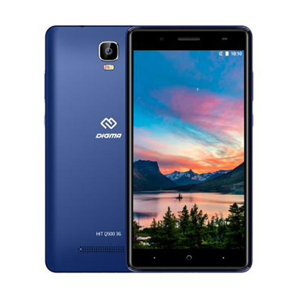 Смартфон Digma HIT Q500 3G 8Gb 1Gb Blue смартфон digma hit q500 3g 8gb 1gb black