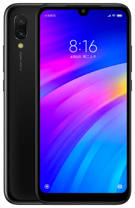 Смартфон Xiaomi Redmi 7 3/32GB Black смартфон