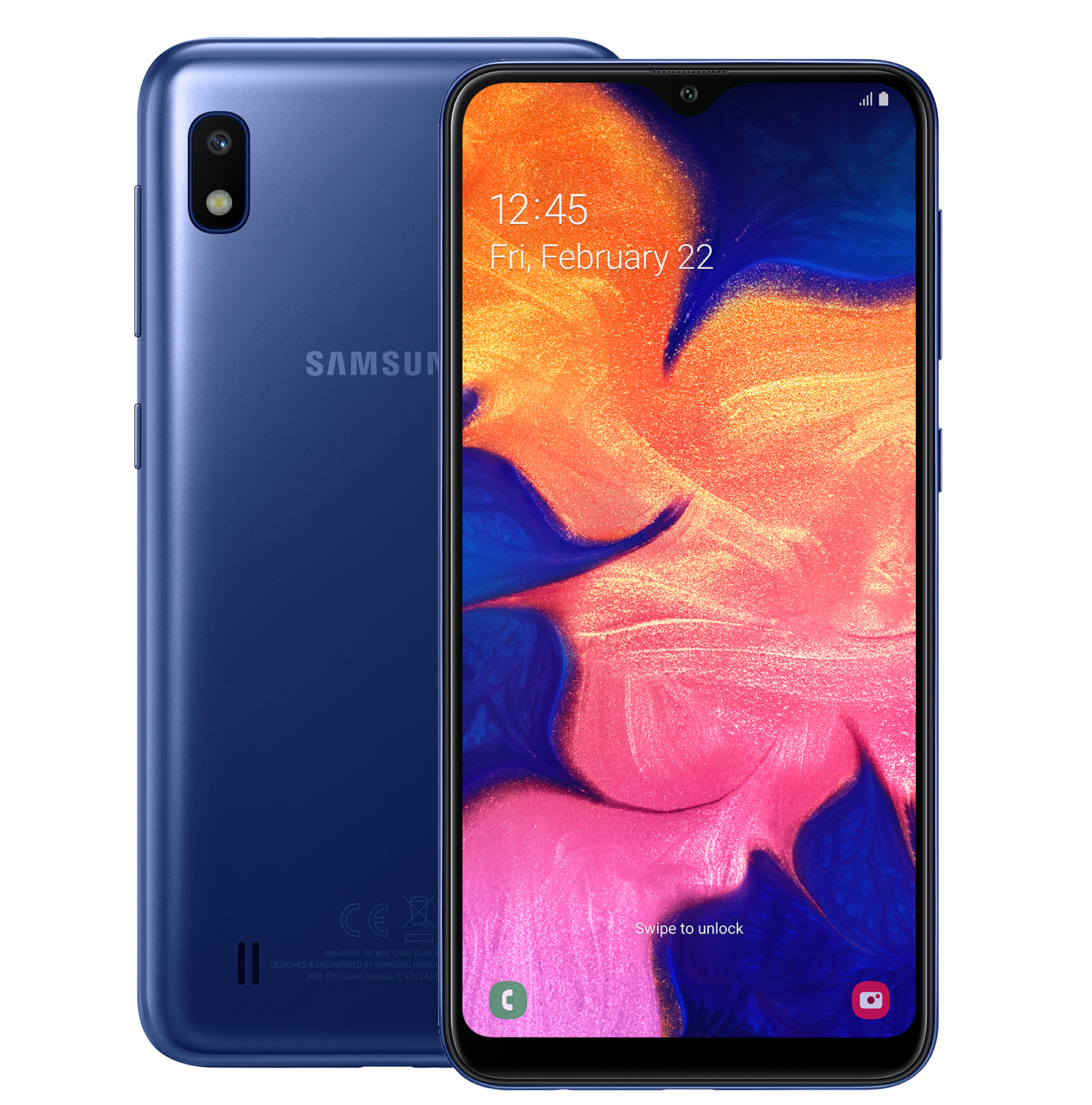 Смартфон Samsung Galaxy A10 32GB (2019) A105F Blue смартфон samsung galaxy a10 2019 2 32gb black