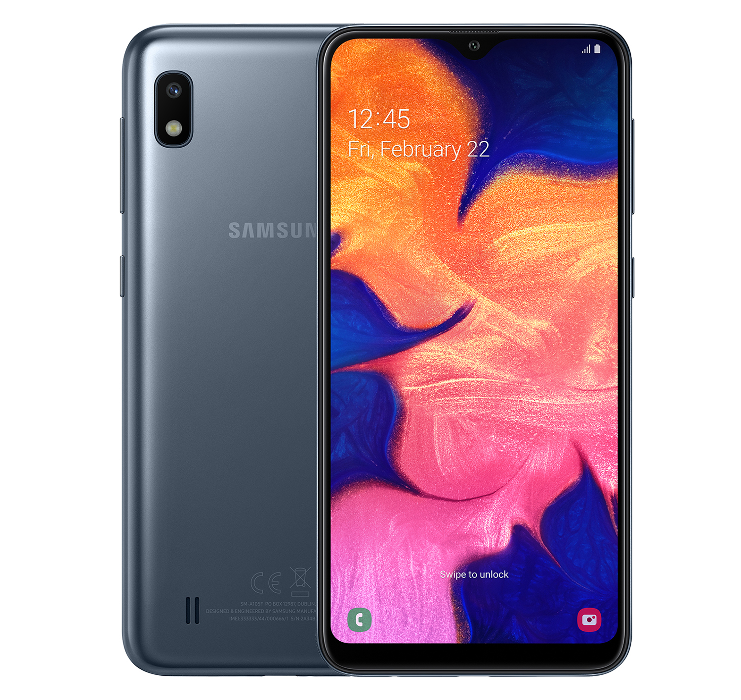 Смартфон Samsung Galaxy A10 32GB (2019) A105F Black смартфон samsung galaxy a10 2019 2 32gb black