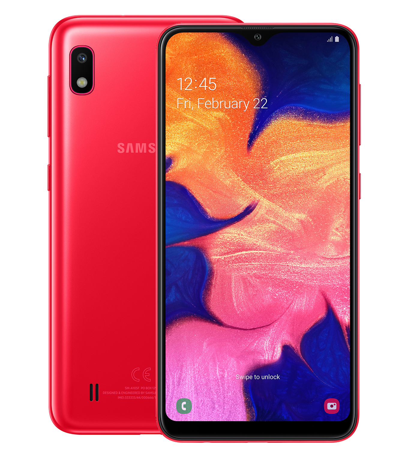 Смартфон Samsung Galaxy A10 32GB (2019) A105F Red смартфон samsung galaxy a10 2019 2 32gb black