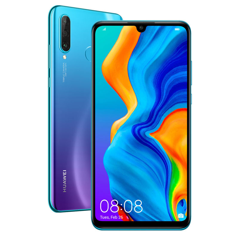 Смартфон Huawei P30 lite 128Gb Peacock Blue смартфон honor 20 lite 128gb peacock blue