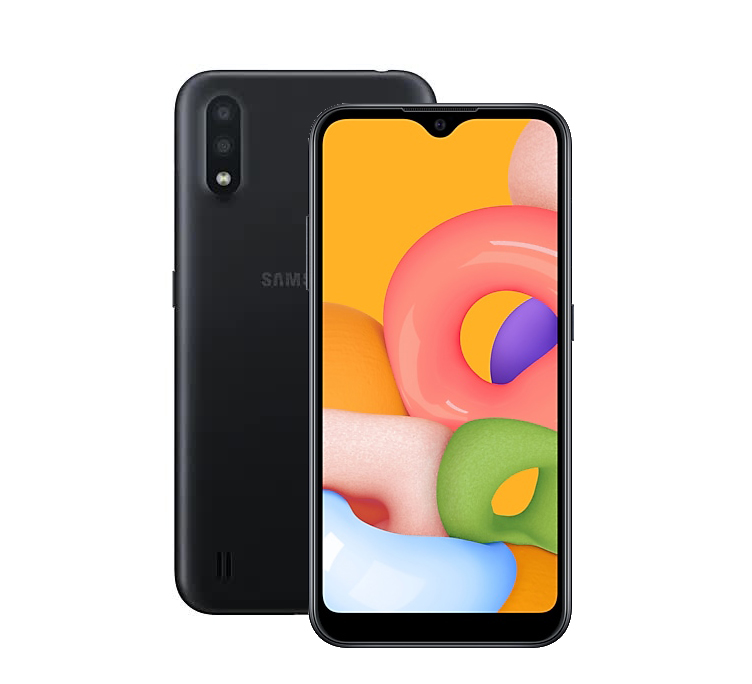 Смартфон Samsung Galaxy A01 16Gb SM-A015FZKDSER Black - фото 1