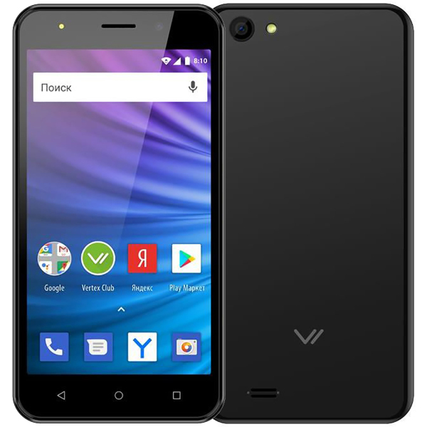 Смартфон Vertex Impress Luck L100 Black смартфон vertex impress luck 8gb черный
