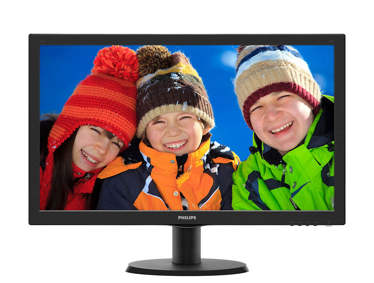 Монитор PHILIPS 23.6'' Black 243V5QSBA (00/01) монитор жк philips 243v5qsba 01
