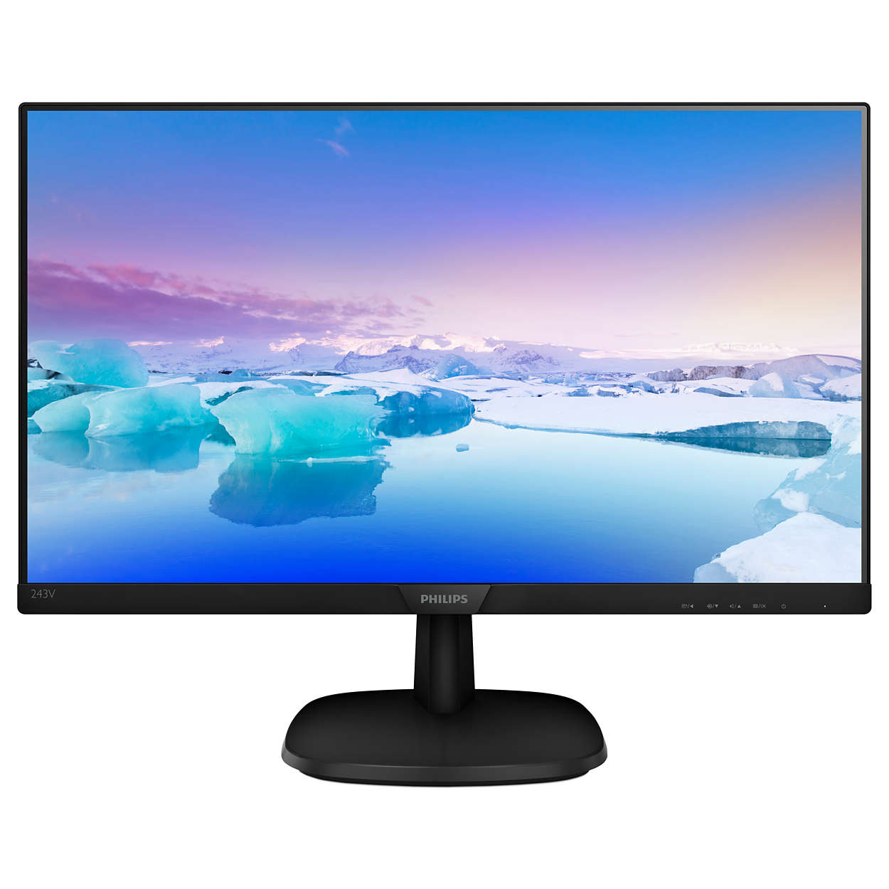 Монитор PHILIPS 23.6'' Black 243V7QJABF (00/01/86) видео