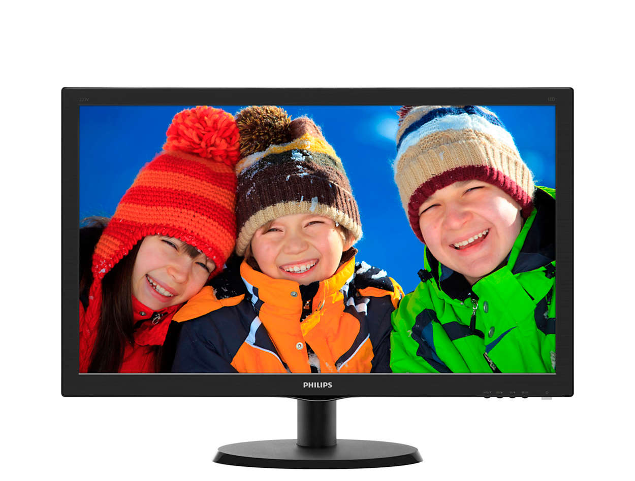 Монитор Philips 21.5'' Black 223V5LSB2 (10/62) монитор philips 223v5lsb2