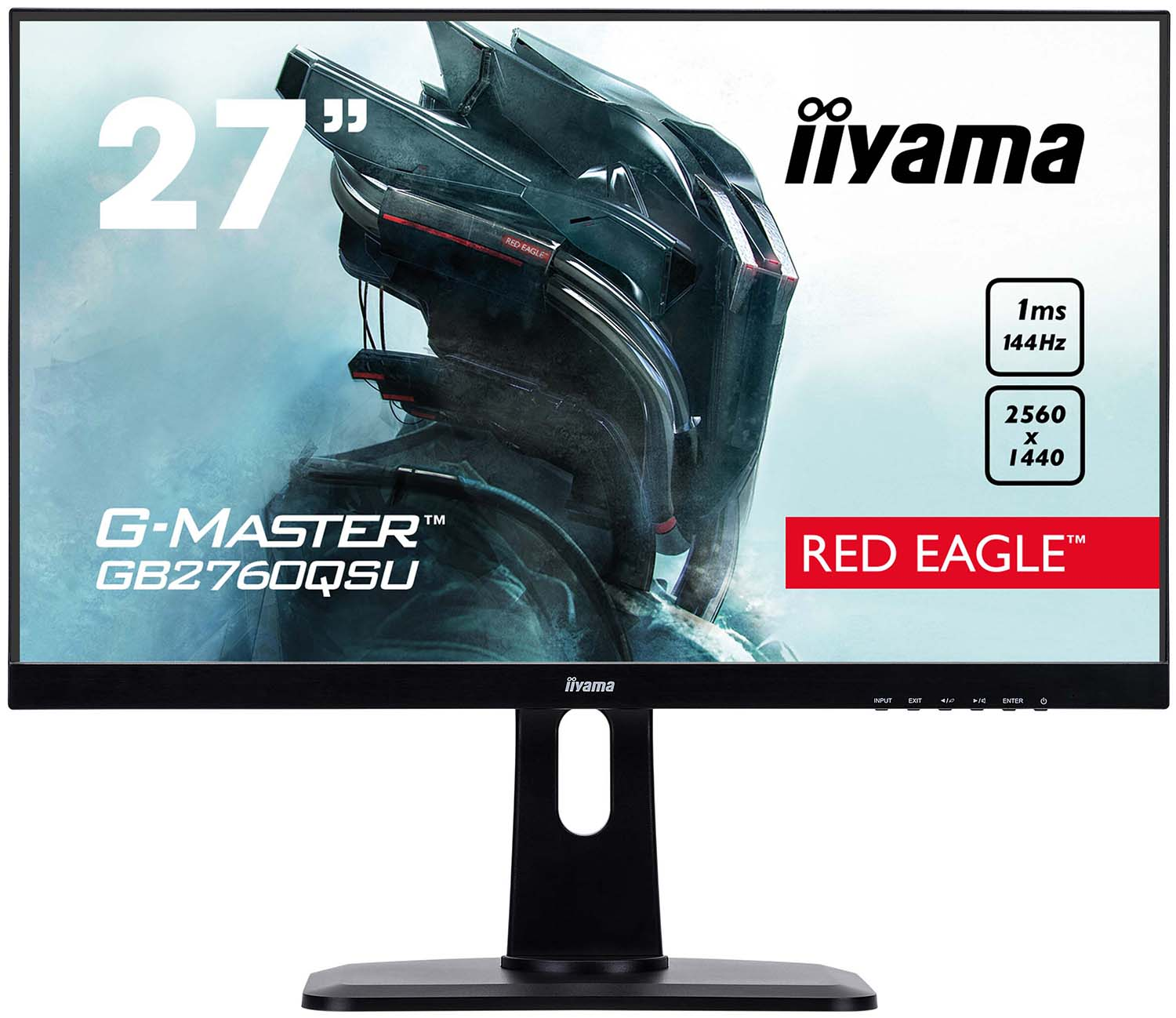 Монитор Iiyama LCD 27'' [16:9] 2560х1440 TN Black (GB2760QSU-B1) все цены