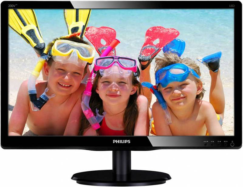 Монитор Philips 19.5 200V4LAB2 (00/01) черный монитор philips 272b7qpjeb 00 черный