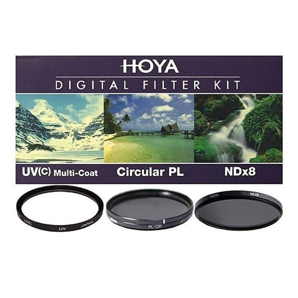 Набор светофильтров HOYA Digital Filter Kit HMC MULTI UV, Circular-PL, NDX8 - 77mm набор светофильтров rekam starter kit uv cpl fld 55 мм