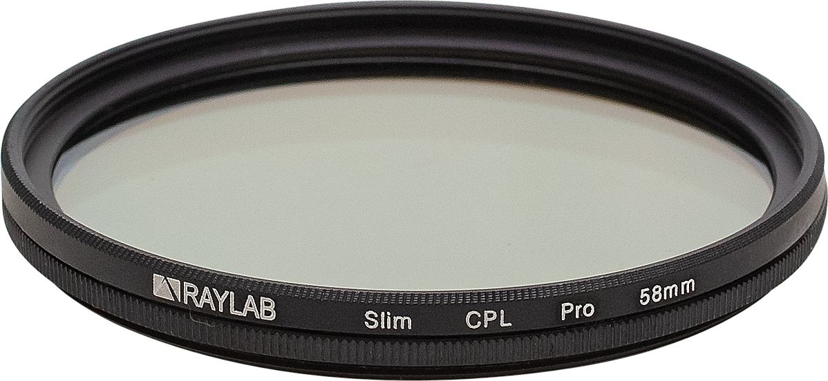 Фильтр поляризационный RayLab CPL Slim Pro 58mm emolux sqm6038 close up 10 lens filter black 58mm