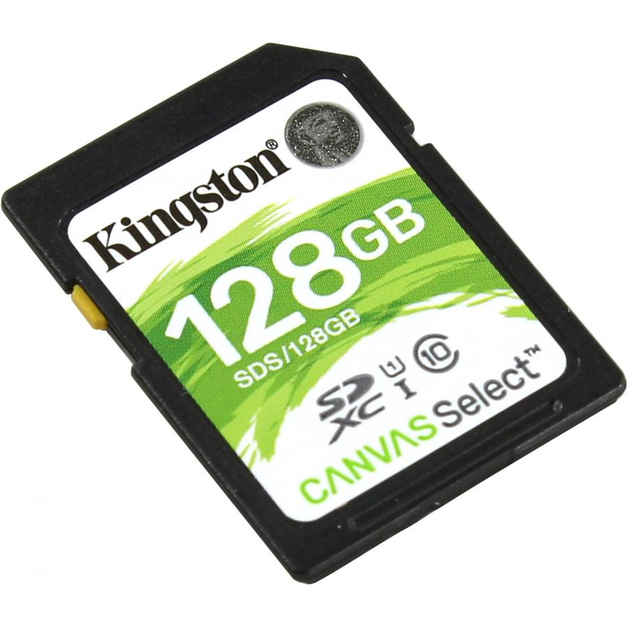 Карта памяти Kingston SDXC 128Gb Class10 SDS/128GB Canvas Select карта памяти sdxc 128gb class 10 kingston sd10vg2 128gb
