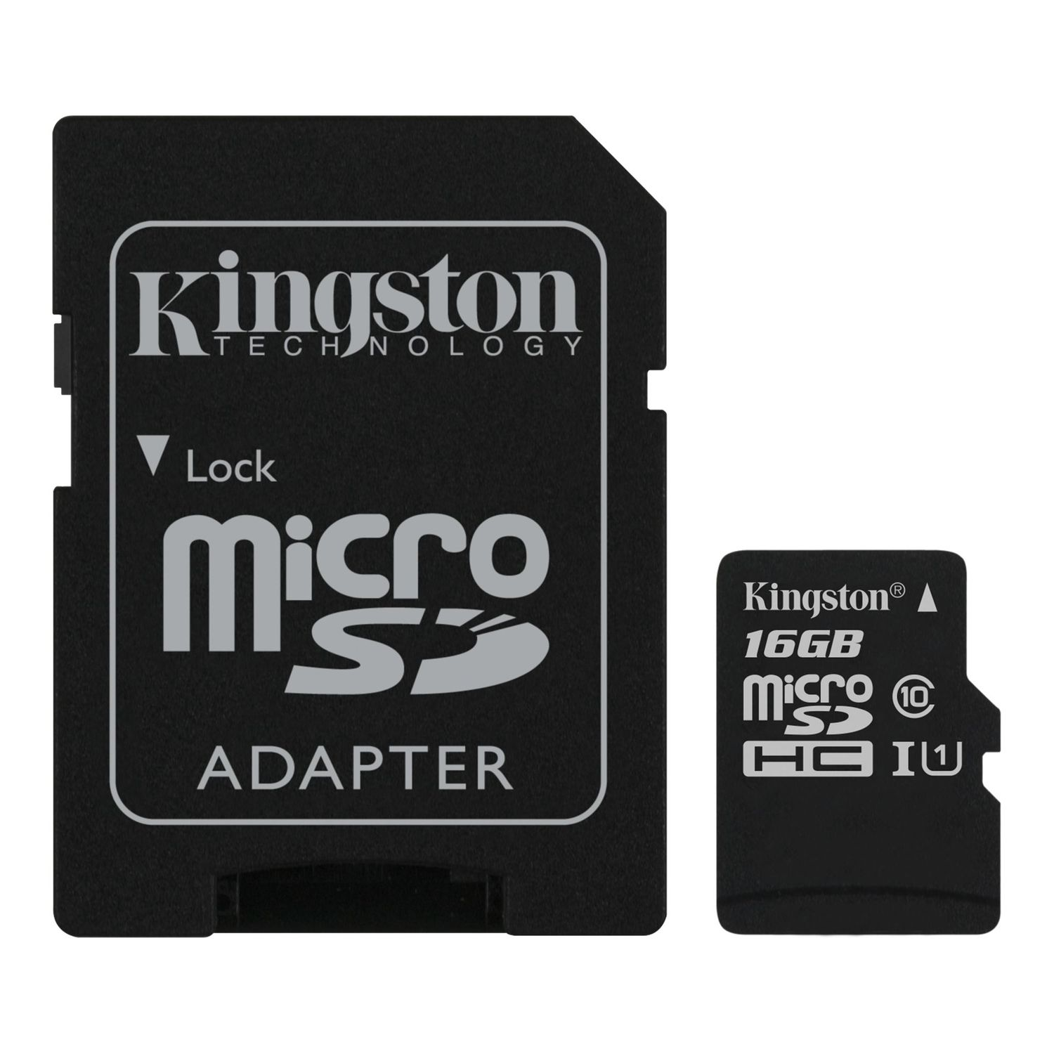 Карта Памяти micro SDHC 16Gb Kingston Canvas Select UHS-I + ADP (80/10 Mb/s) цена